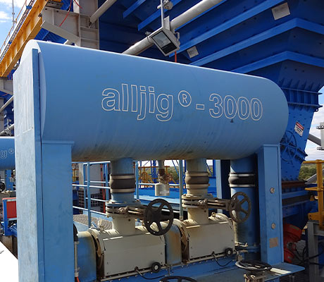 Blue alljig® machine